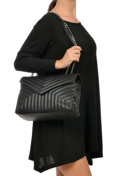 Luisa Vannini Geanta matlasata de piele cu bareta de umar Femei