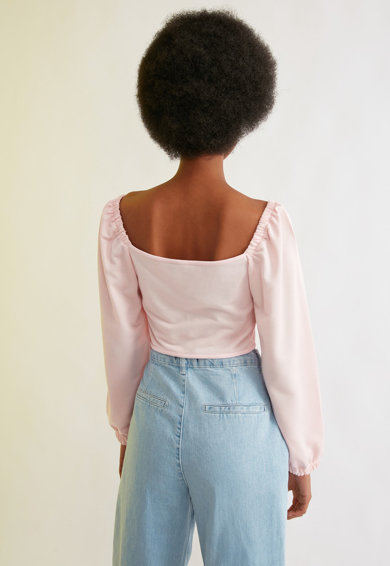Trendyol Bluza crop cu model corset Femei