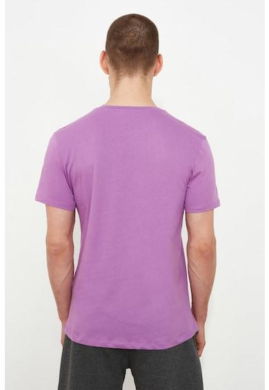 Trendyol Tricou slim fit cu imprimeu Barbati