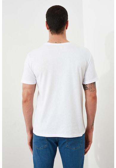 Trendyol Tricou de bumbac cu imprimeu pe piept Barbati