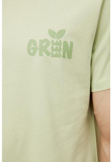 Trendyol Tricou de bumbac organic cu detaliu text Barbati