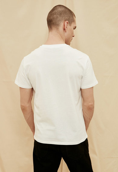 Trendyol Tricou de bumbac organic cu imprimeu pe piept Barbati