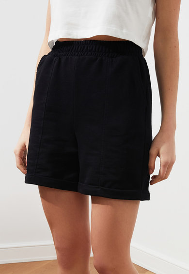 Trendyol Pantaloni scurti cu talie inalta si buzunare oblice Femei