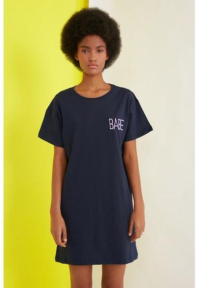 Trendyol Rochie tip tricou cu broderie text Femei