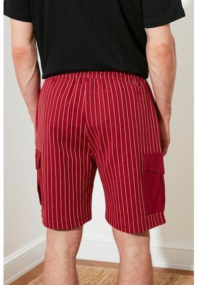 Trendyol Pantaloni scurti in dungi cu snur Barbati