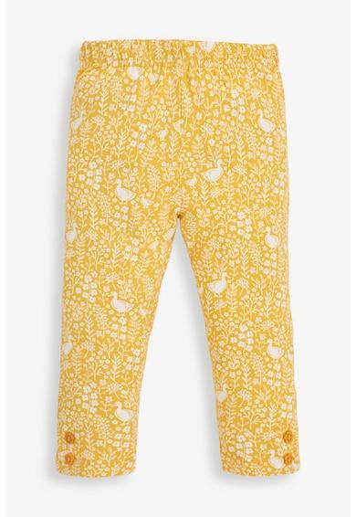 JoJo Maman Bebe Set de pantaloni din amestec de bumbac cu imprimeu - 2 perechi Fete