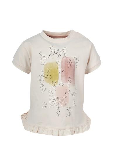 EN FANT Tricou cu decolteu la baza gatului si imprimeu abstract Fete
