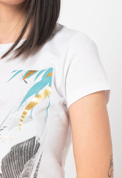 Only Tricou din bumbac organic cu imprimeu grafic Macy Femei