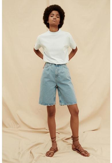Trendyol Pantaloni scurti din denim cu margini nefinisate Femei