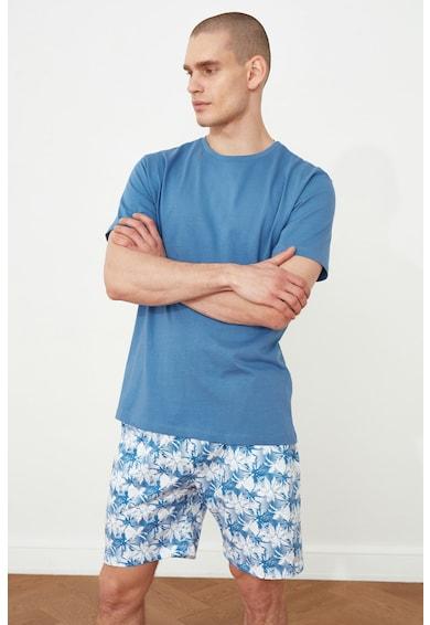 Trendyol Pijama cu pantaloni scurti cu model tropical Barbati