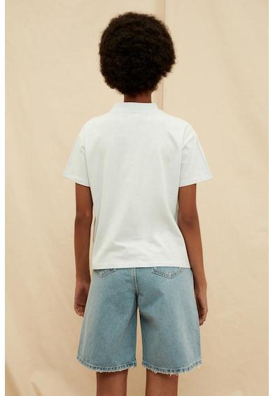 Trendyol Tricou de bumbac organic cu guler scurt Femei