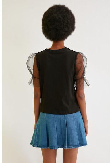 Trendyol Bluza cu maneci bufante din tul Femei