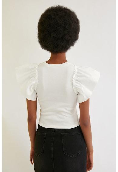 Trendyol Bluza cu striatii si maneci aripioara bufante Femei