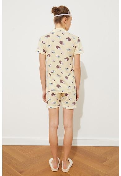 Trendyol Pijama de bumbac cu imprimeu grafic Femei