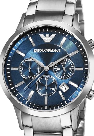 Emporio Armani Сребрист часовник с хронoметър Мъже
