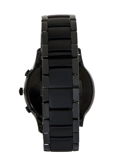 Emporio Armani Черен часовник с хронометър Мъже
