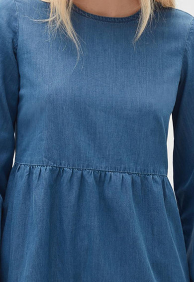 OVS Rochie din material chambray cu croiala in A Femei