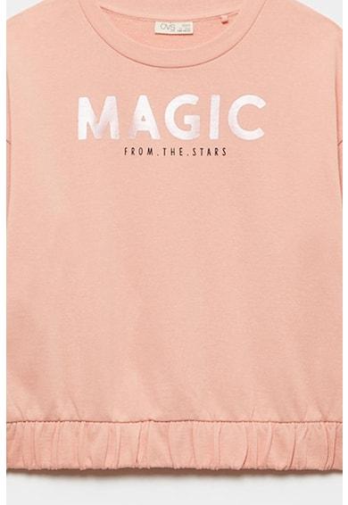 OVS Bluza sport cu imprimeu text Fete