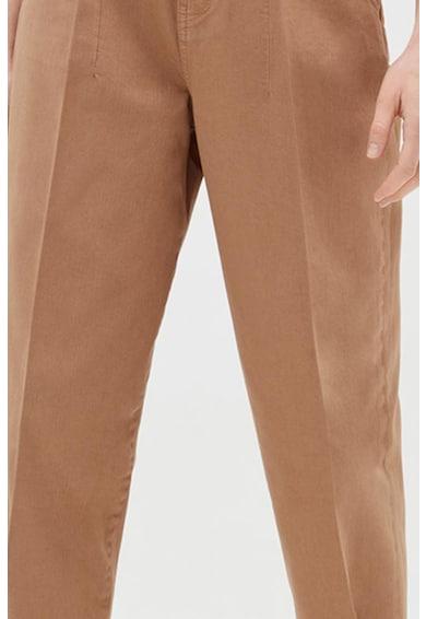 OVS Pantaloni crop cu talie inalta si croiala conica Femei