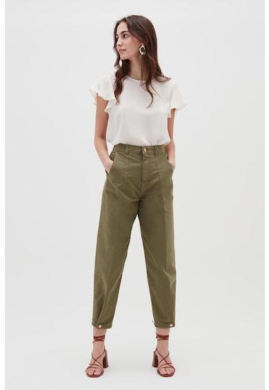 OVS Pantaloni crop cu terminatie cu nasturi Femei