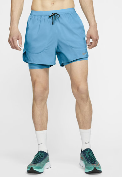 Nike Pantaloni scurti cu model 2in1 pentru alergare Flex Stride Barbati