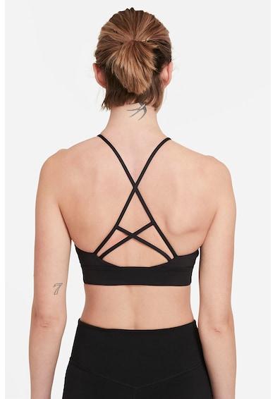 Nike Bustiera cu sustinere scazuta, bretele incrucisate si tehnologie Dri-Fit Indy Femei