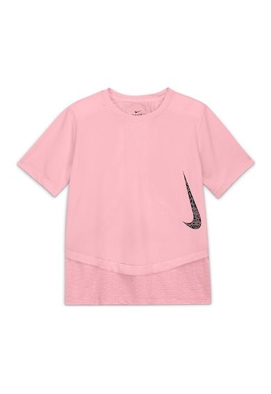 Nike Tricou cu tehnologie Dri-Fit si aspect texturat Instacool Fete