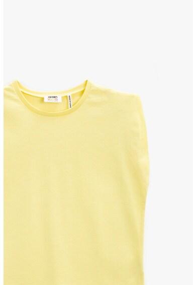 KOTON Tricou de jerseu cu decolteu la baza gatului Fete