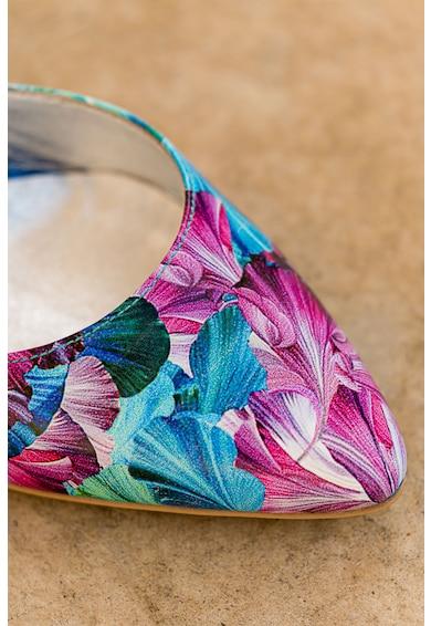 CONDUR by alexandru Pantofi de piele lacuita cu varf ascutit si imprimeu floral Aime Femei