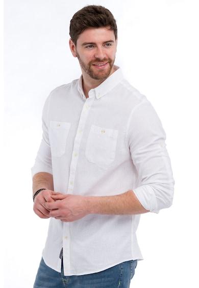 Lee Cooper Camasa din amestec de in cu buzunare pe piept Barbati