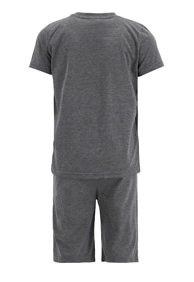 DeFacto Pijama cu maneci scurte si imprimeu text Baieti