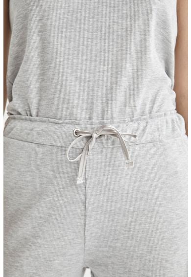 DeFacto Pijama fara maneci cu decolteu in V Femei