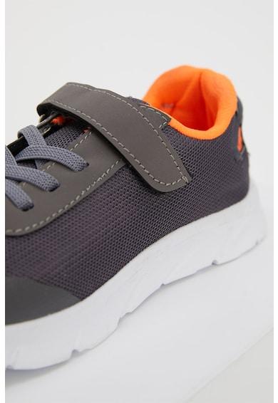 DeFacto Pantofi sport de plasa cu sireturi si velcro Baieti