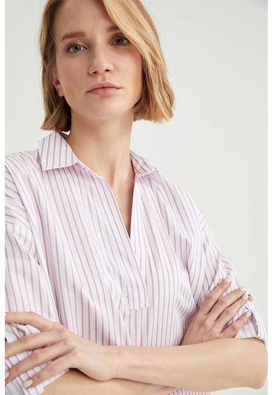DeFacto Bluza in dungi cu decupaj in V Femei
