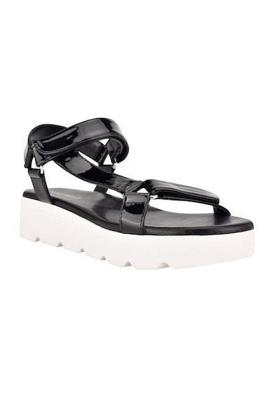 NINE WEST Sandale de piele ecologica cu aspect lacuit Bringly Femei
