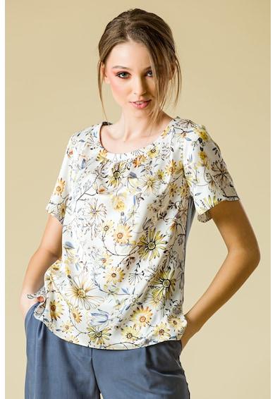 Sense Bluza cu decolteu rotund si imprimeu floral Femei