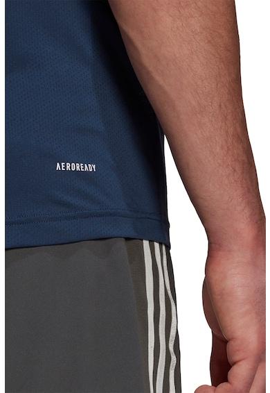 adidas Performance Tricou slim fit cu decolteu la baza gatului pentru fitness Barbati