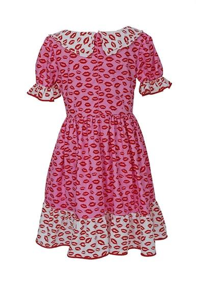 ambar studio Къса разкроена рокля Adelina с декоративни копчета Жени