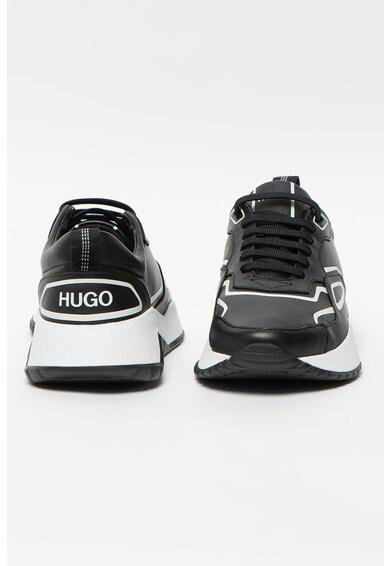 HUGO Pantofi sport de piele cu insertii contrastante Atom Barbati