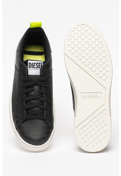 Diesel Pantofi sport low din piele cu aspect cu perforatii Clever Barbati