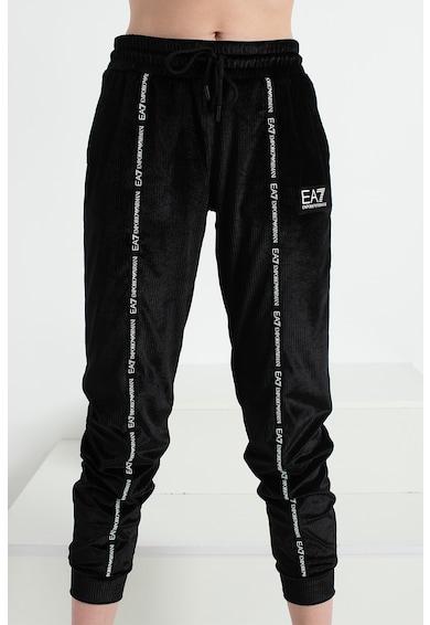 EA7 Pantaloni sport cu talie inalta si snur de ajustare in talie Femei
