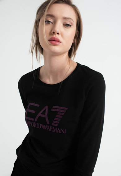 EA7 Bluza sport cu imprimeu logo Femei