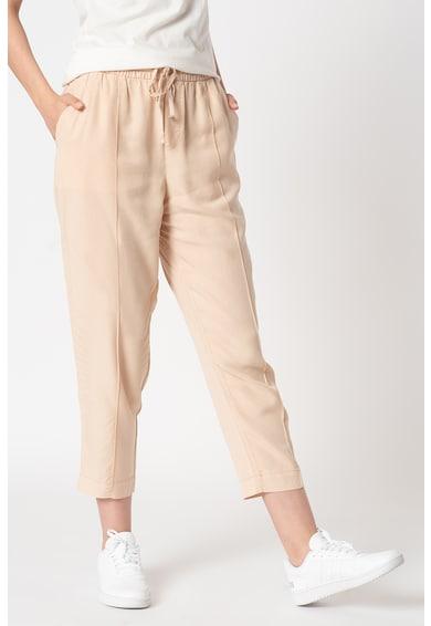 GAP Pantaloni jogger crop de lyocell cu snur Femei