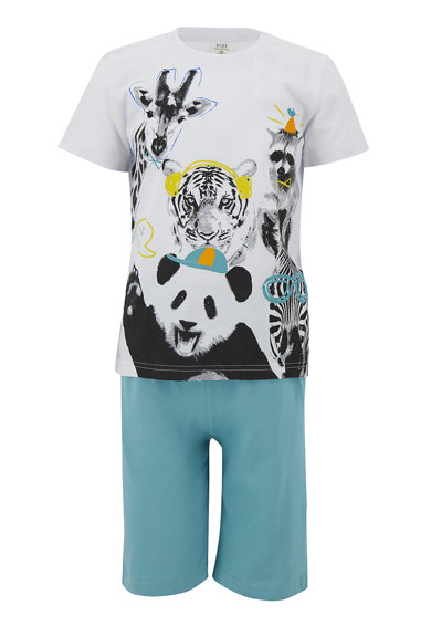 DeFacto Pijama cu imprimeu grafic Baieti