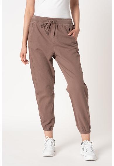 GAP Pantaloni sport crop din amestec de lyocell cu croiala conica Femei