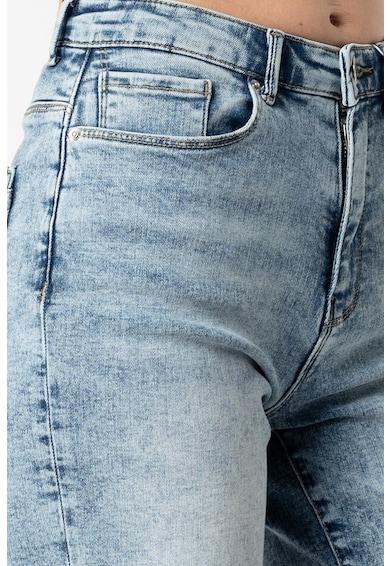Only Pantaloni scurti cu talie inalta si aspect decolorat Paola Femei
