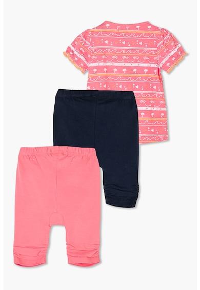 s.Oliver Set de tricou si bermude din jerseu cu fronseuri, pentru fete, 3 piese Fete