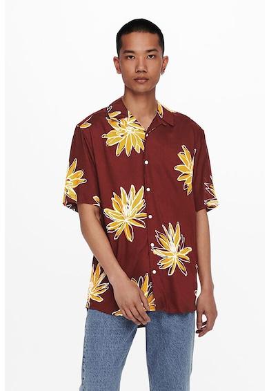 Only & Sons Camasa din viscoza cu imprimeu floral Barbati
