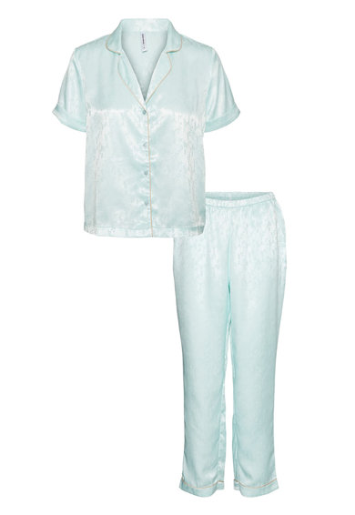 Vero Moda Pijama cu maneci scurte, din satin Femei