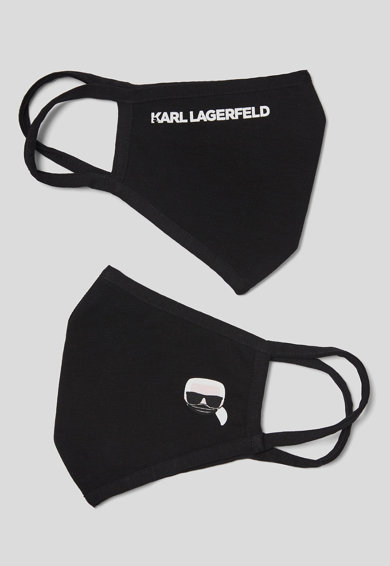 Karl Lagerfeld Set de masti de protectie pentru fata, din amestec de bumbac - 2 piese Femei